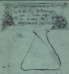 Disseny original d'Erlenmeyer pel nou matràs cònic, 1860