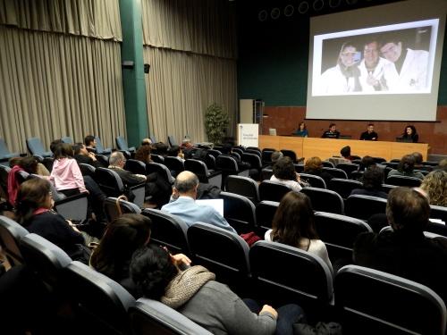 Presentació del projecte a professors de batxillerat. Aula Magna de la Facultat de Ciències de la UdG. Ahir, 27/01/14.