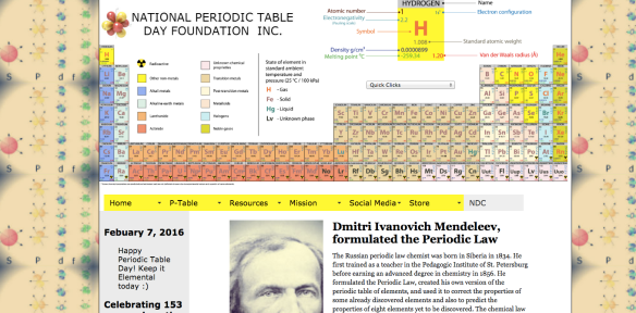 periodic table day 2016