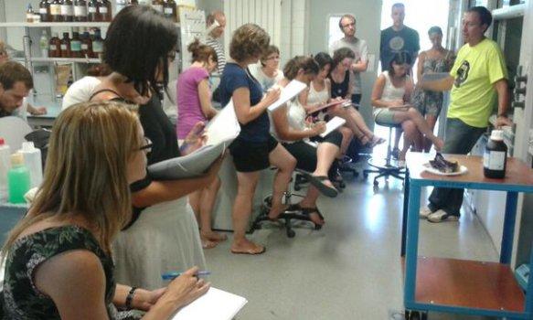 Imatge de la nostra sessió a l'anterior edició del curs, el juliol de 2015.